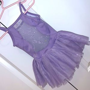 BLOCH Girls Ballet outfit with layered tutu skirt